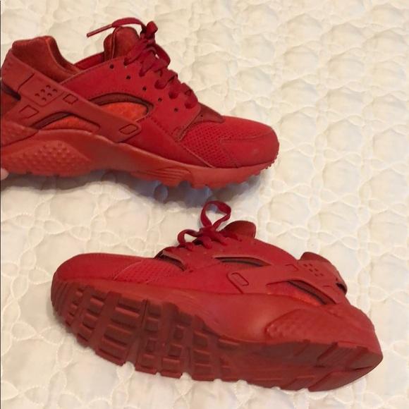 Nike Shoes | Red Huarache Tennis Youth